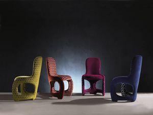 SE48 Venere Stuhl, Bequemen Stuhl mit geschwungenen Linien, voll gepolstert