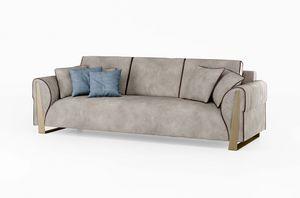 ART. 3422, Sofa mit bronzierten Beinen