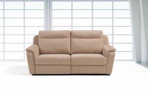 Briga, Bequemes Sofa aus Leder oder Stoff