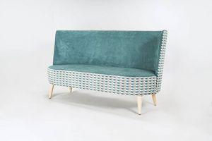 BS528L - Sofa, Sofa mit abgerundeter hoher Rückenlehne