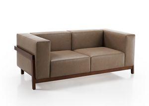 Canaletto, Sofa mit massivem Eschenrahmen