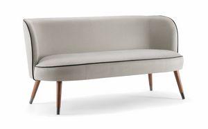 CANDY SOFA 061 D, Kleines Sofa mit umhüllenden Linien