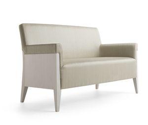 Charme 02551, Sofa aus Holz für Hotels und öffentlichen Bereichen