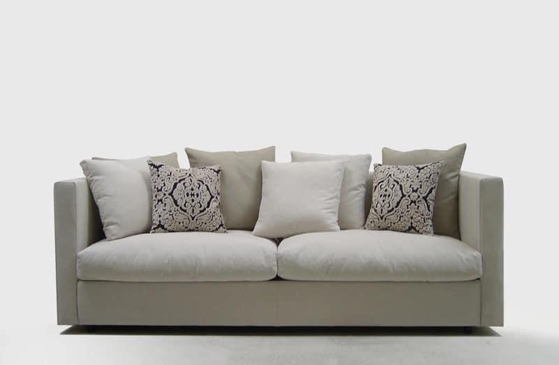 Company, Komfortables Sofa, für elegante Lounges, mit abnehmbarem Stoffbezug