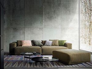 Delano, Moderne Sofa mit zwei Stufen zurück