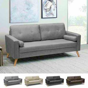 Divano Design Moderno Stile Scandinavo In Tessuto 3 Posti Per Salotto E Cucina ACQUAMARINA  - DI8092MIGC, Skandinavisches Sofa mit großem Sitz