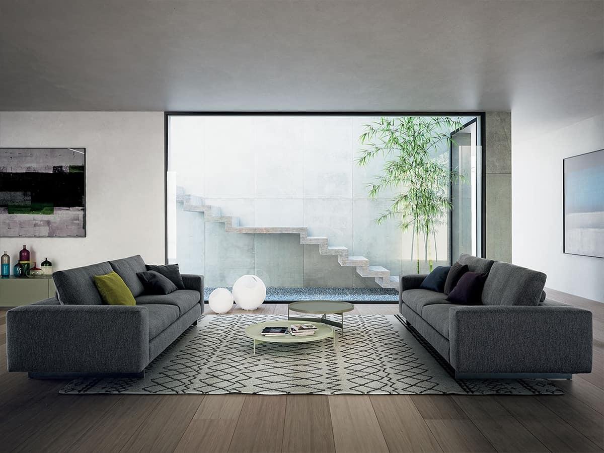 Duo, Modulares Sofa mit verstellbarer Rückenlehne