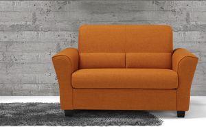 Ermes, Zweisitzer-Sofa aus Stoff