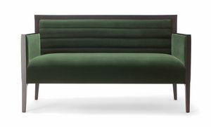 GINEVRA SOFA 031 D, Sofa mit einem strengen Design