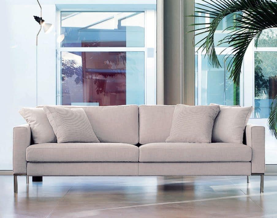 Ginger, Linear Sofa mit sichtbaren Füßen, für moderne Büro