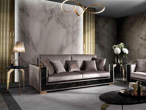 Incanto Sofa, Sofa mit strengen Formen