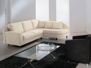 Incontro corner, Sofa aus Polyurethan, mit Dacron, für Hotel