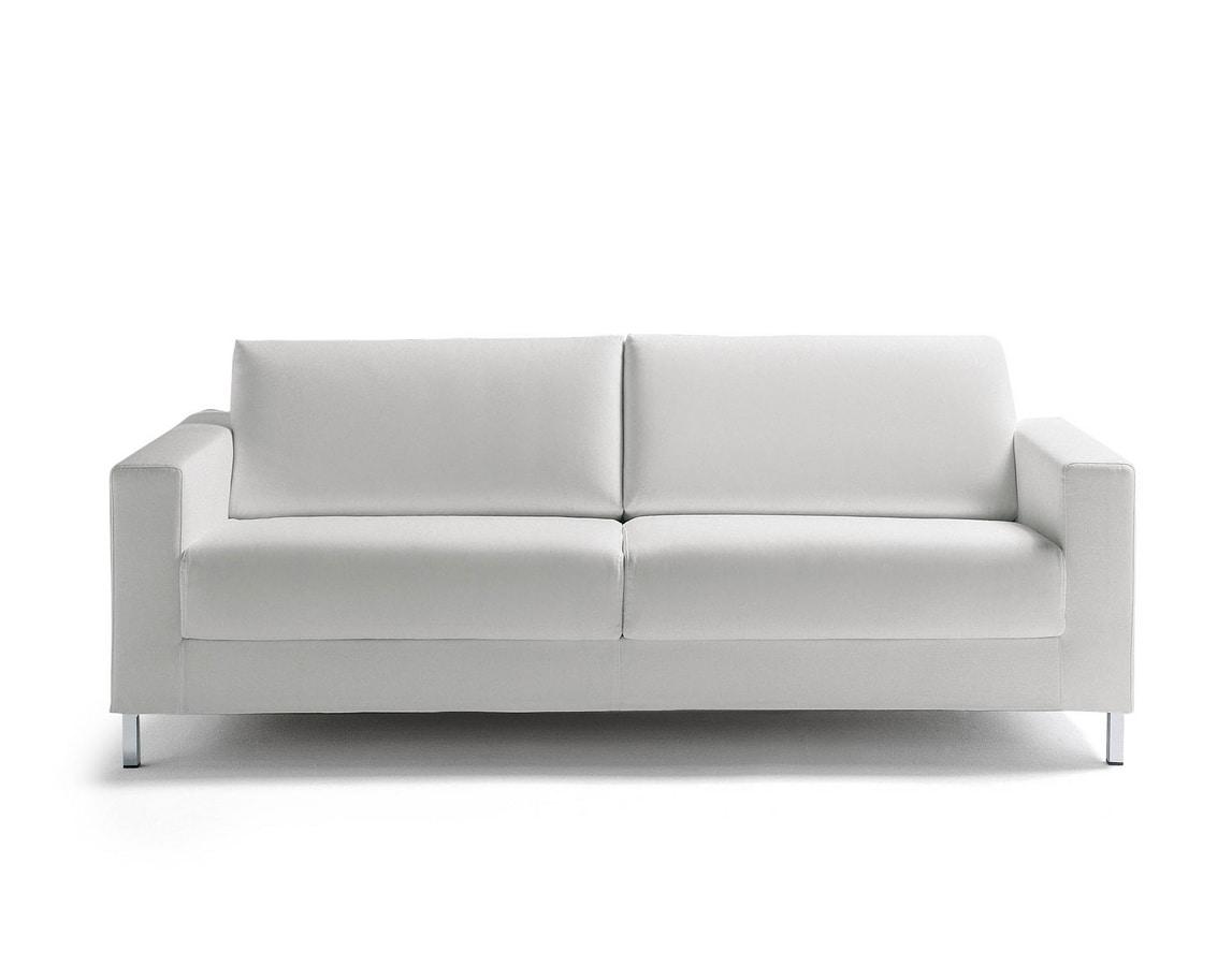 James, Cabrio Sofa mit Metallfüßen