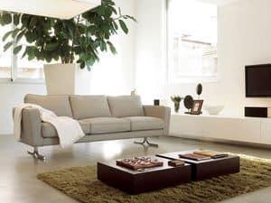 Karel, Sofa mit Polyurethanpolsterung in Acrylfasern abgedeckt