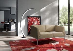 Kos Sofa, Sofa mit Metallfüßen für moderne Wohnzimmer