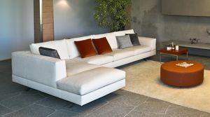 Lario eckig, Modulares Sofa mit einem modernen Design