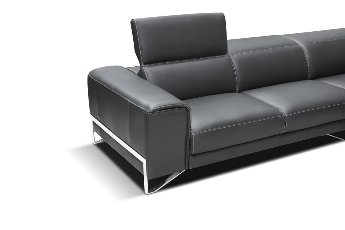Eckmodul-Sofa, aus Leder und Polyurethan   IDFdesign