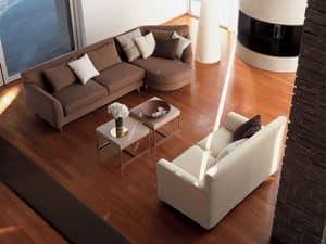 Minorca corner, Ecksofa, mit abnehmbarem Stoff, für Wohnzimmer
