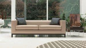 Mio, Sofa aus Polyurethan und Dacron, Buche Basis, für das Büro