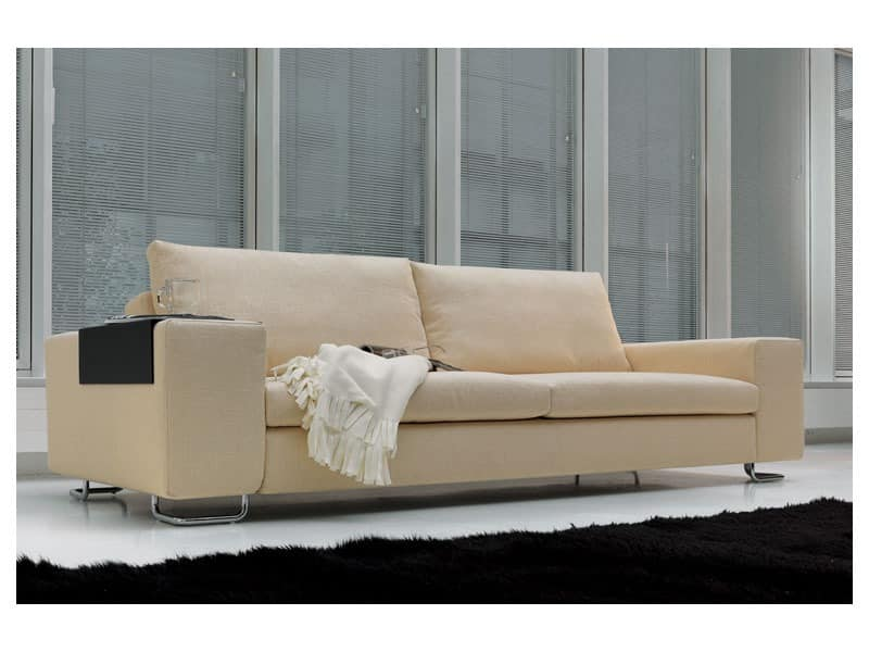 Poker, Modernes Sofa aus Polyurethan und Feder, für das Büro