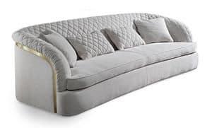 Portofino Sofa, Gepolstert und gesteppt Sofa, handgefertigt