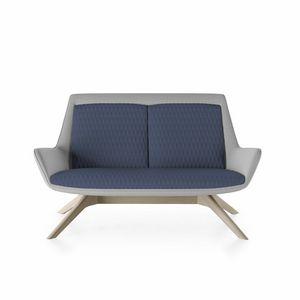 Roxy sofa, Sofa mit Holzsockel