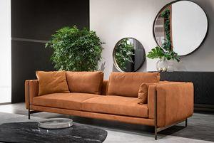 Shangai Sofa, Schnittsofa mit Metallstruktur