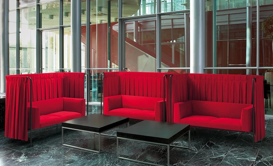 Snowsofa, Akustisches Sofa, das Privatsphäre und Komfort garantiert