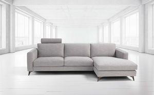 Stromboli, Modernes Sofa mit Stahlfüßen
