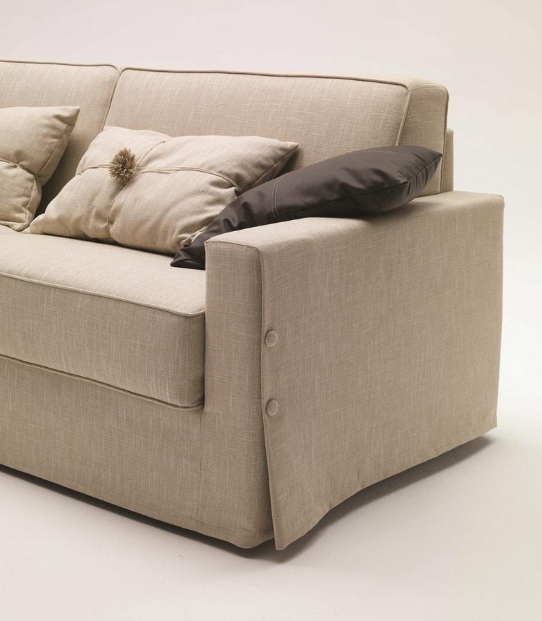 Taylor, Sofa mit weichen und essentiellen Linien