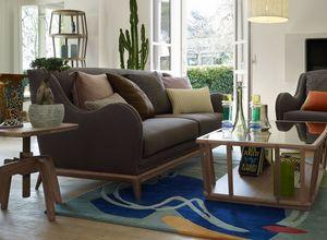 Wave Sofa, Zweisitzer-Sofa mit Holzfu�