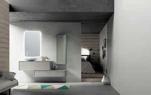 Dress 2.0 comp.02, Modulare Badezimmereinheit mit Wandeinheiten