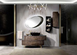 Incanto Badezimmer, Asymmetrischer Badezimmerschrank