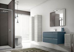 Mistral comp.04, Moderne Badezimmermöbel, mit Lagersäulen
