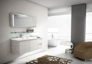 Mistral comp.08, Spiegel mit Klappentür, für Badeinrichtung