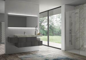 Sense comp.07, Badezimmermöbel mit beleuchtetem Spiegel