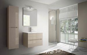 Smyle comp.08, Kompakter Badezimmerschrank, mit Mineralmarmor