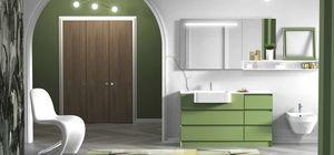 Torana TR 020, Grünes Badezimmerschrank mit Schubladen