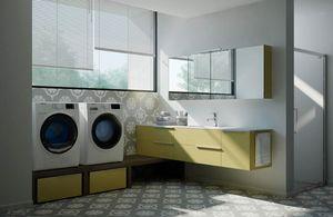Spazio Time comp.07, Eckmöbel für Wäsche, modular