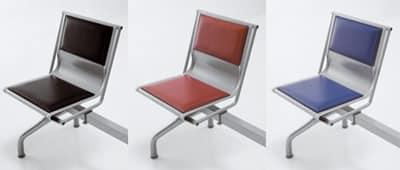 Pitagora bench 2, Moderne Bank in perforierter Stahl, für Wartezimmer