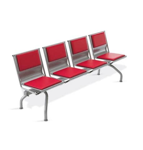 Pitagora bench, Bench in Stahlblech in verschiedenen Farben lackiert