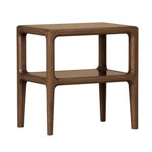 Bellagio 1301/F, Nachttisch aus Holz mit Glasböden