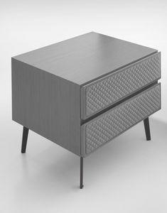 Eos Art. E0010-G, Nachttisch mit gesteppter Vorderseite