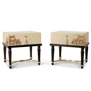 FLORA / Nachttisch, Zeitgemäßer Luxus-Nachttisch