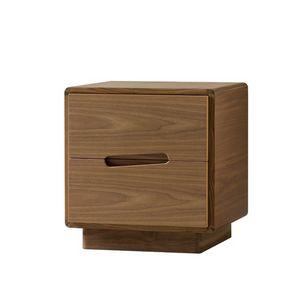 Malibù 1367/F, Nachttisch aus Holz mit geschnitzten Griffen