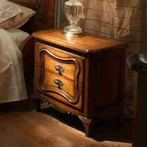 Marsiglia VS.2051, Louis XV Nachttisch mit zwei Schubladen