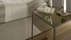 Narciso Nachttisch, Nachttisch mit Eisenstruktur vor, in denen Spiegel