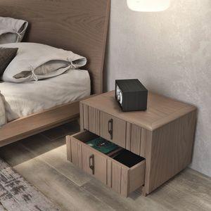 Nova NOVA1303T, Moderner Nachttisch aus Holz mit Sockel
