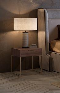 Nox Nachttisch, Nachttisch mit minimalem Design
