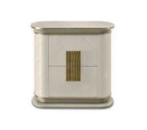 Oliver Art. OL87, Nachttisch mit filigranem, raffiniertem Design